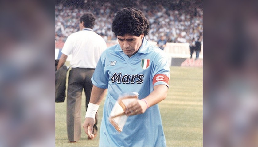 Captain's Armband Worn and Signed by Diego Armando Maradona, 1990/91