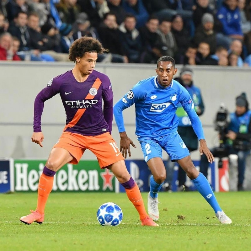 Sané's Manchester City Match Shorts, Champions League 2018/19