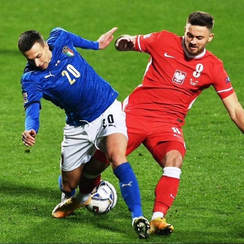 Bernardeschi's Match Shirt, Italy-Poland 2020