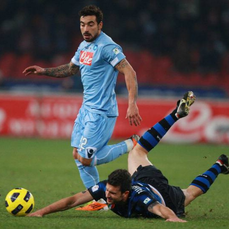 Lavezzi's Worn and Unwashed Shirt, Napoli-Inter 2011