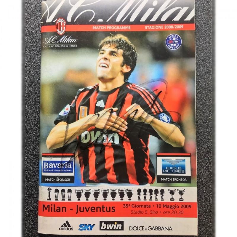 Milan-Juventus 2009 Match Program - Signed by Kaka
