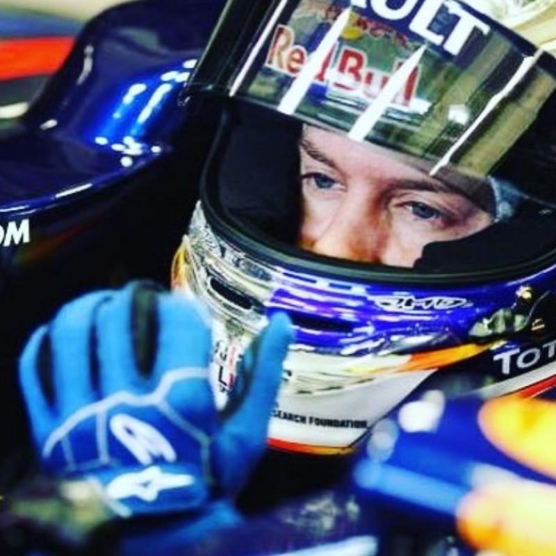Sebastian Vettel's 2011 Testing Gloves