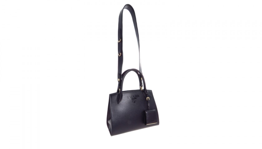 sale uk sale retailer pick up Prada Monochrome Saffiano Leather Bag - CharityStars