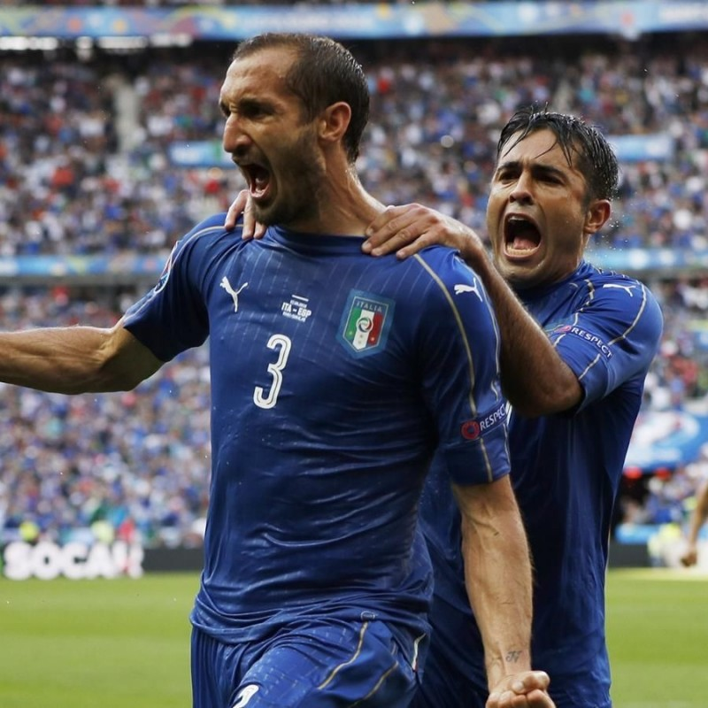 Chiellini's Official Italy 2016 Signed Shirt