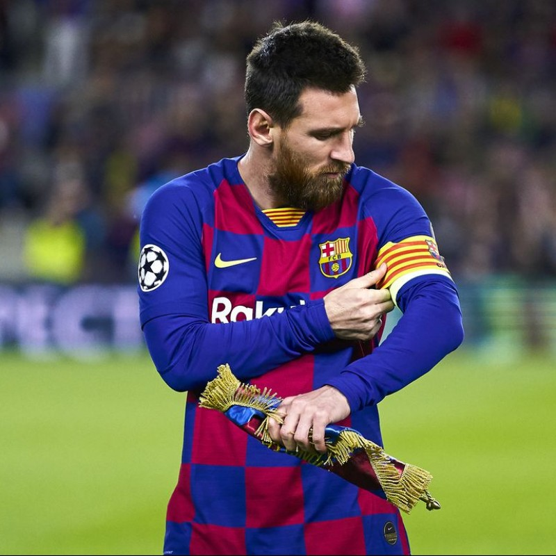 Messi's Match-Issued Barcelona Shirt, UCL 2019/20