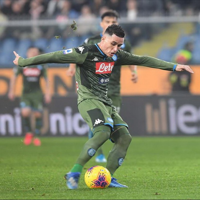 Callejon's Match-Issued Signed Shirt, Verona-Napoli 2020, Special Patch
