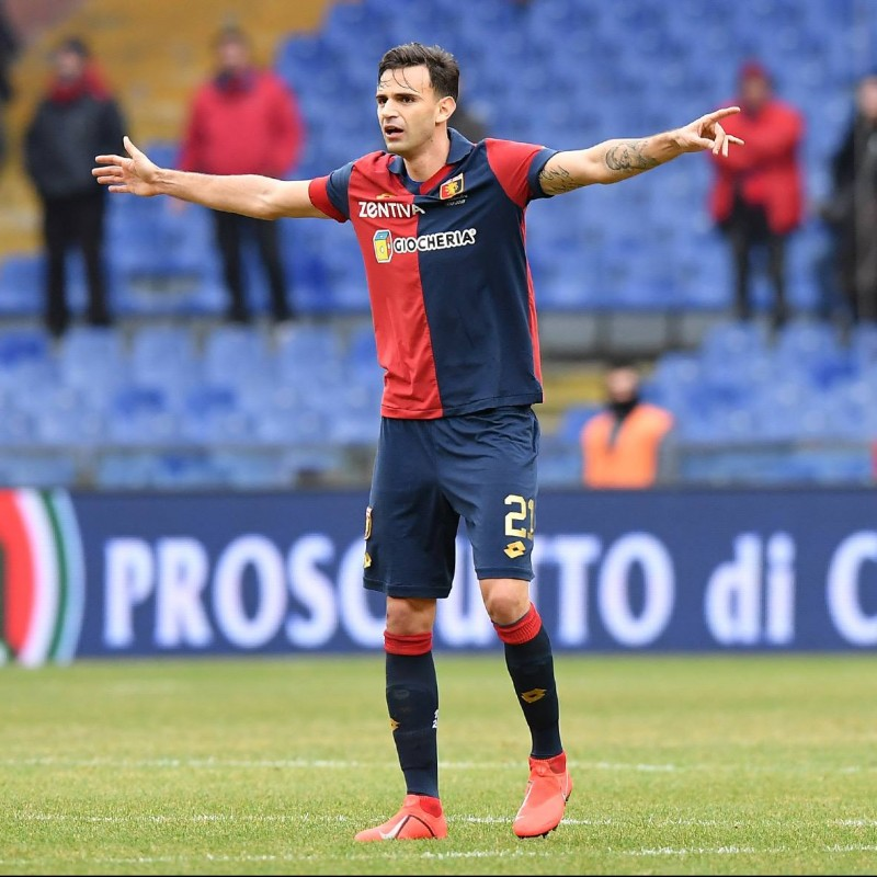 Radovanovic's Genoa Match-Issue Signed Shirt, 2018/19