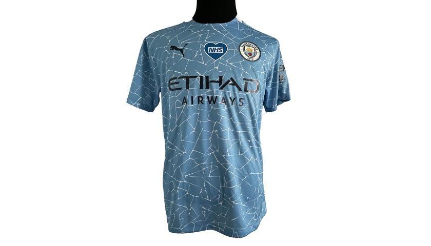 Gundogan's Arsenal-Manchester City 2020 Signed Match Shirt