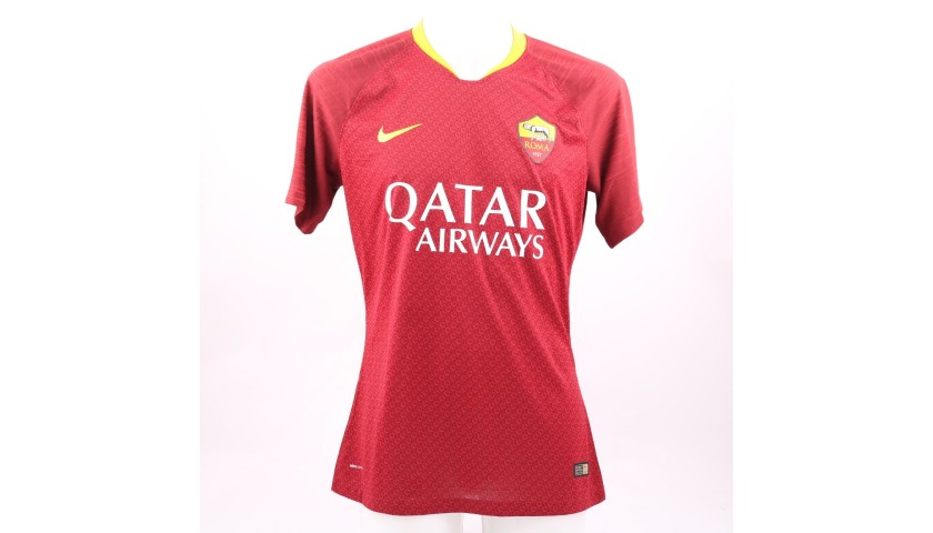 Coric's Worn and Signed Shirt, Roma-Genoa 2018