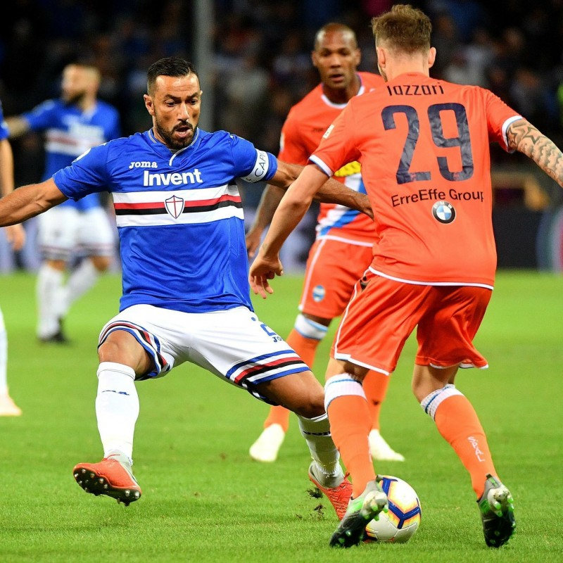 Quagliarella's Sampdoria Match-Issue/Worn Shirt, 2018/19