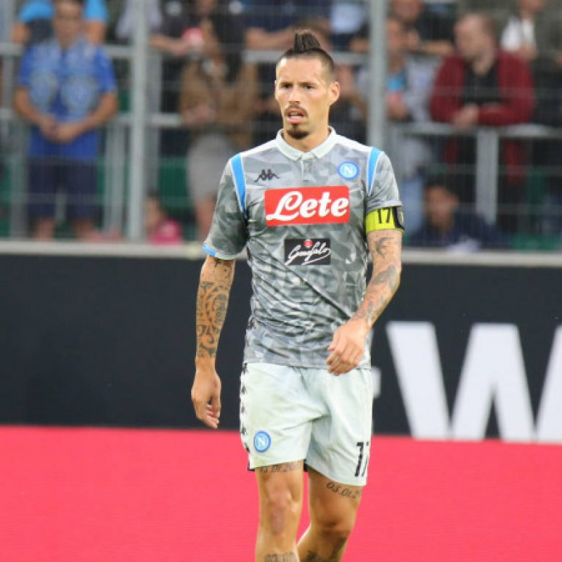 Hamsik's Napoli Match Shirt, 2018/19