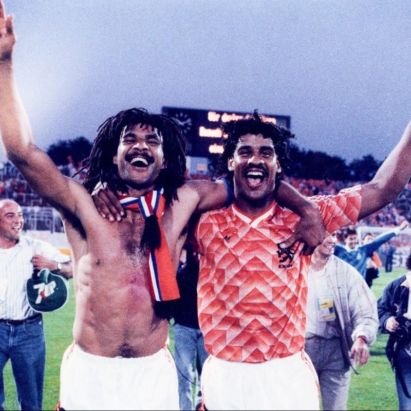 Netherlands Retro Shirt - Signed by Rijkaard