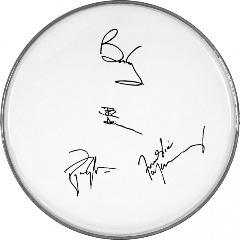 Queen Drumhead with Printed Signatures