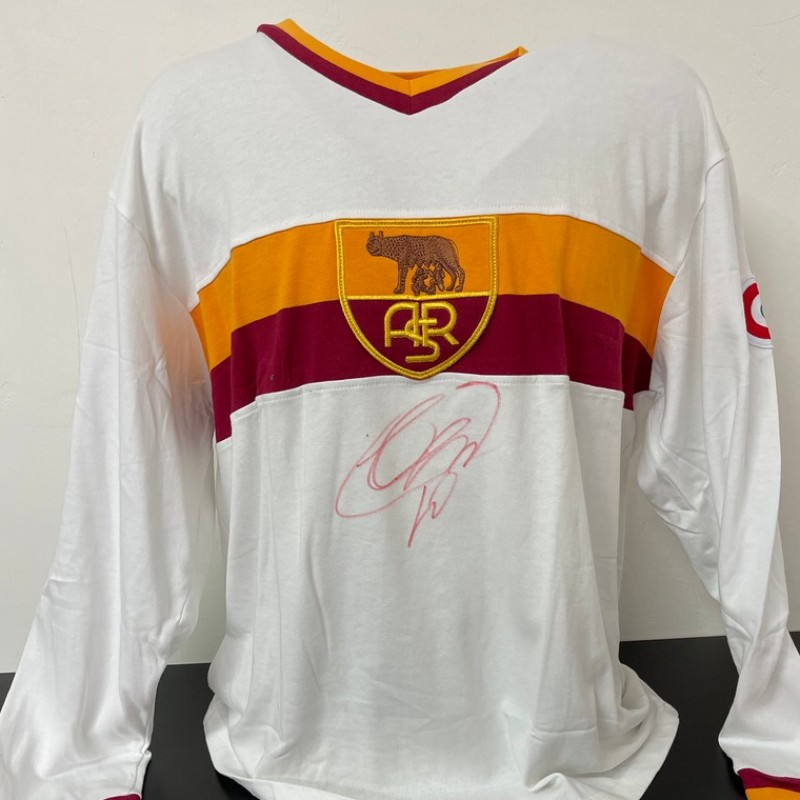 Roma Retro Shirt - Signed by Totti