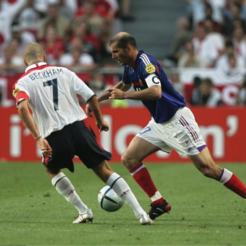 Zidane's Official France Signed Shirt, 2004