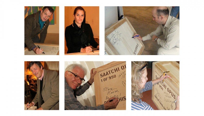 Saatchi Art Opus and Crate Doodled on by Renowned Artists