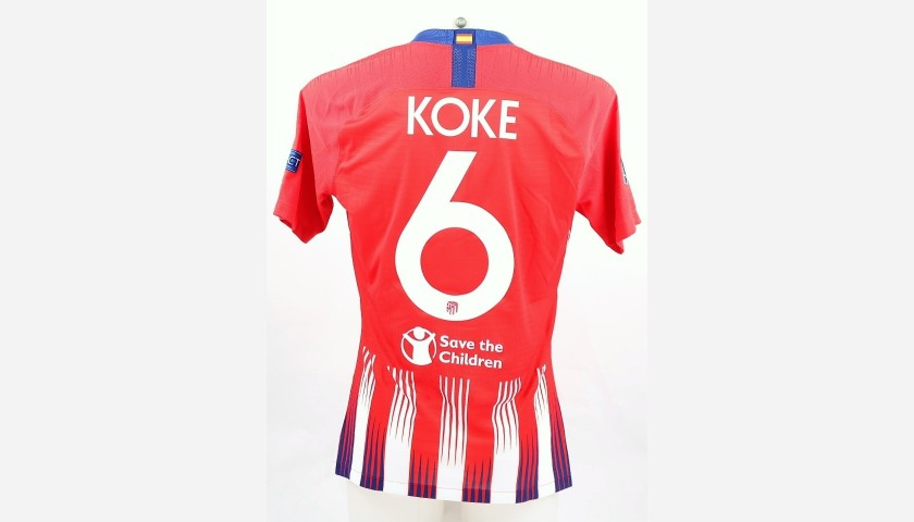 Koke's Atletico Match-Issue/Worn Shirt, UEFA Supercup