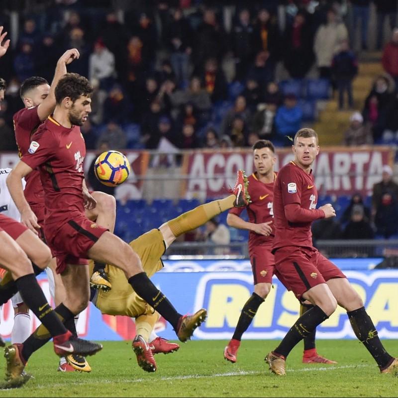 El Shaarawy's Match-Worn Roma-Cagliari Shirt, Special Sponsor Telethon
