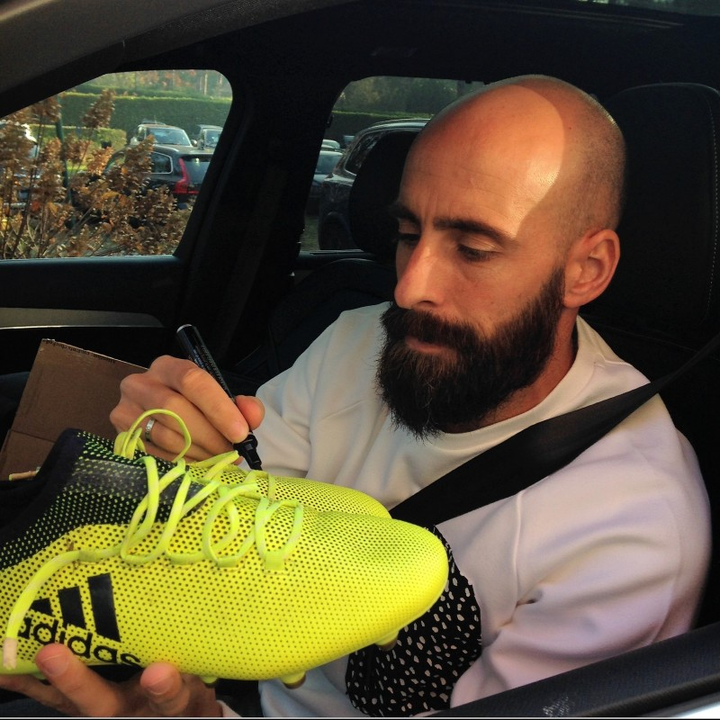 Borja Valero's Signed Match-Worn Adidas Cleats, Serie A 2017/18