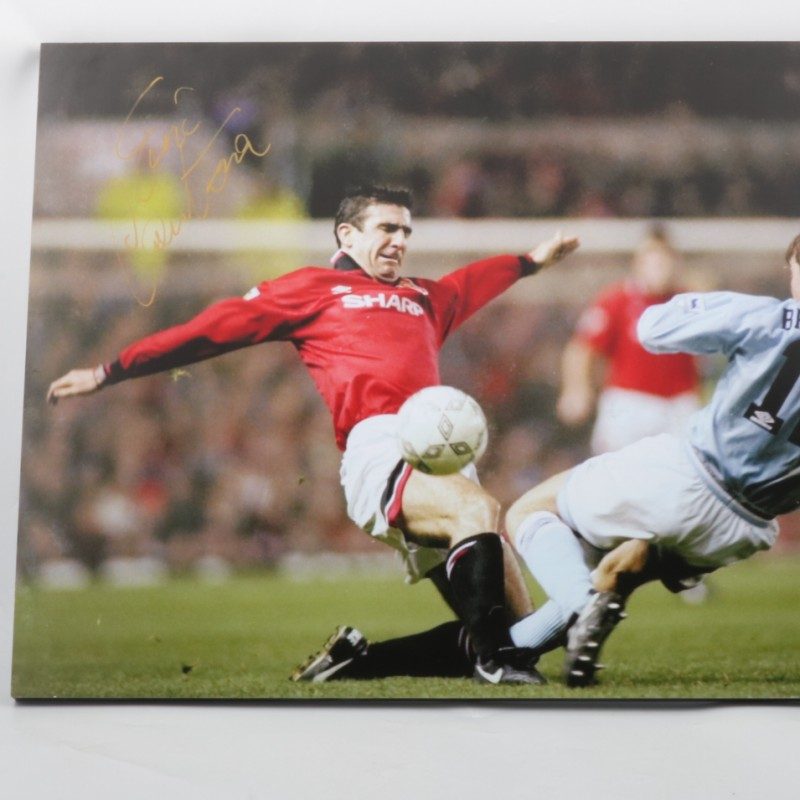 Cantona Manchester United Maxi-photo - Signed