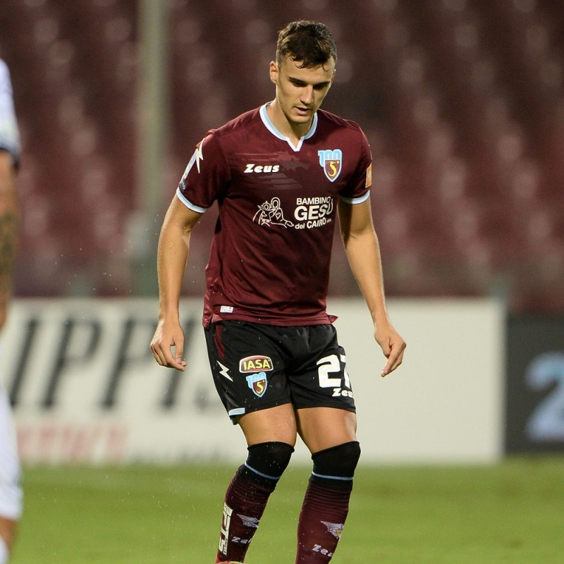 Dziczek's Worn Shirt, Salernitana-Spezia 2020