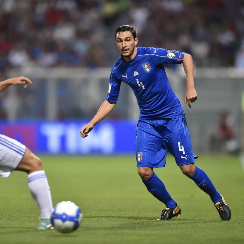 Darmian's Match-Issue/Worn Shirt, Italy-Israel 2017