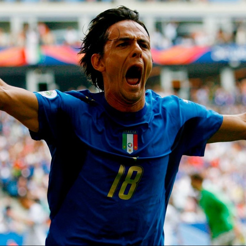 Inzaghi's Italy Signed Match Shirt, 2006 World Cup