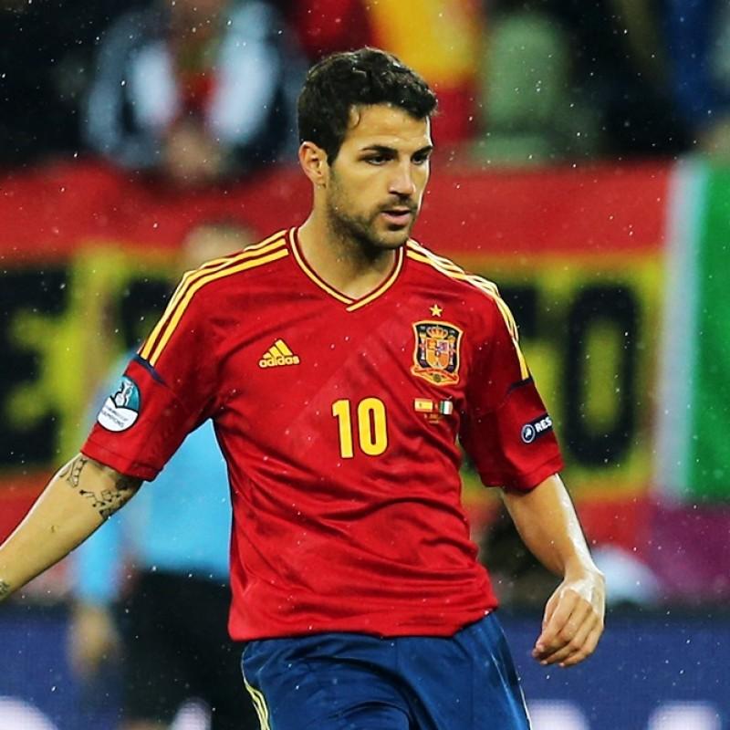 Fàbregas' Official Spain Signed Shirt, 2012