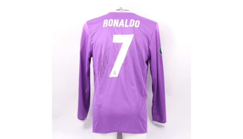 Ronaldo's Match Signed Shirt, Cardiff Final 2017