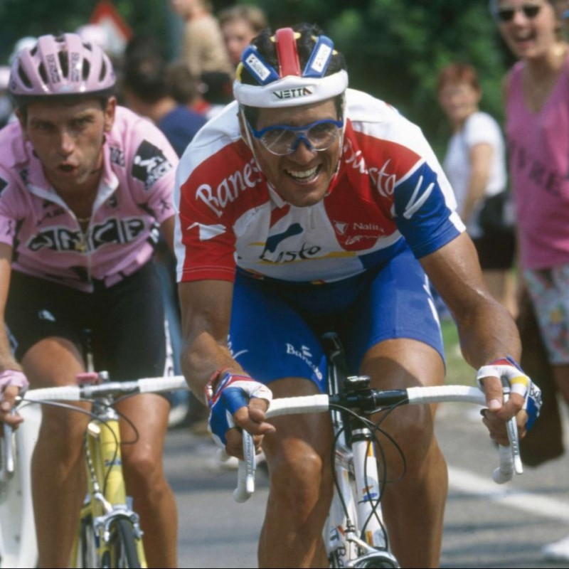 Banesto Jersey Worn and Signed by Indurain
