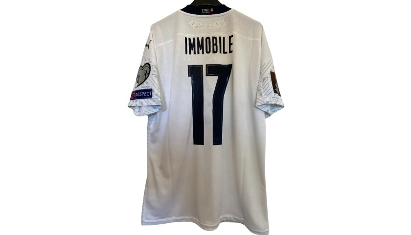 Immobile's Match Shirt, Lithuania-Italy 2021