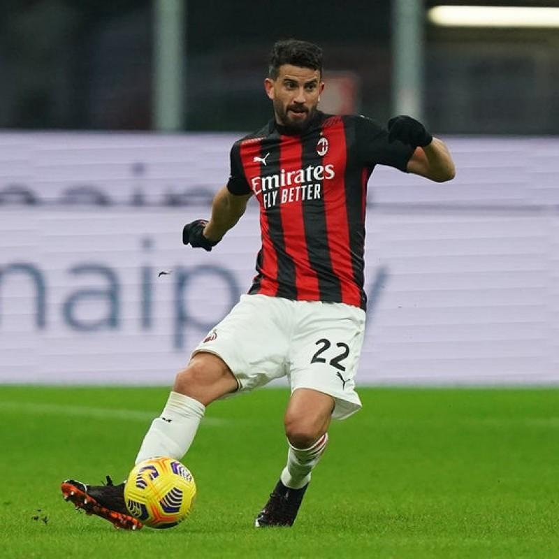Musacchio's Worn and Signed Shirt, Milan-Torino 2021