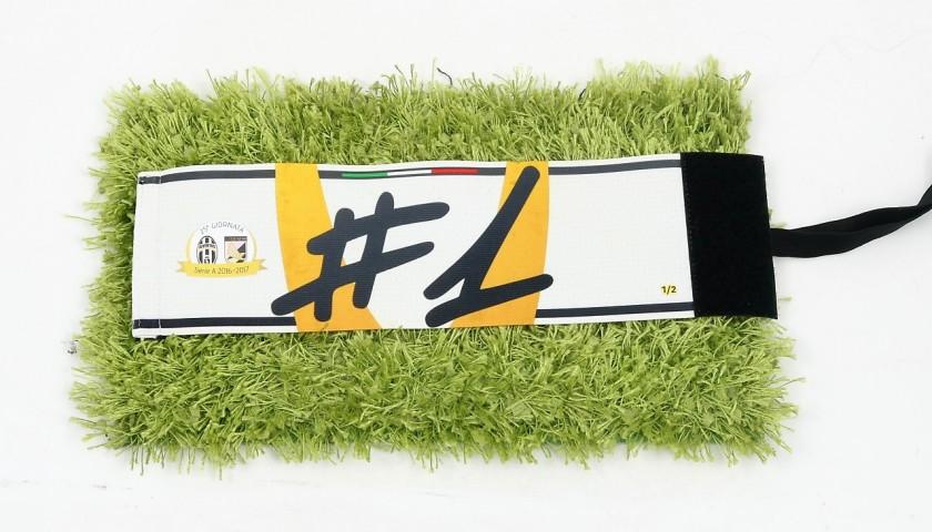 Buffon's Match-Worn Captain Armband, Juventus-Palermo 2017