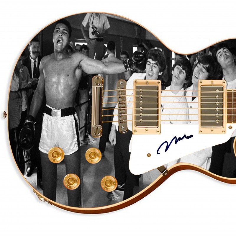 Muhammad Ali Hand Signed Custom Graphics Guitar