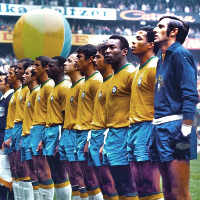 Brazil Retro Football Shirt, 1970 - Signed by Pele
