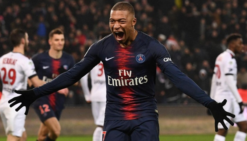 Mbappe's Official PSG Signed Shirt, 2018/19