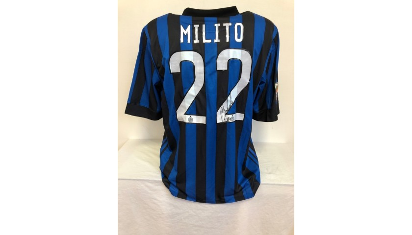 Milito's Official Inter Signed Shirt, 2011/12