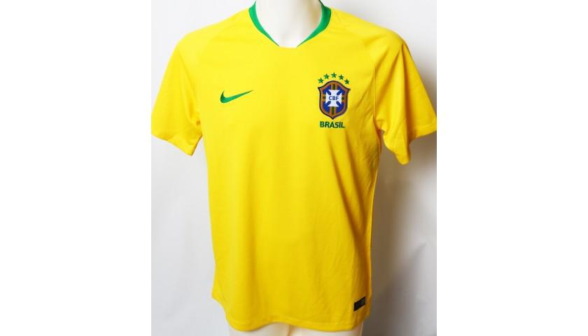 2018 FIFA World Cup Gabriel Jesus Signed Brazil Shirt
