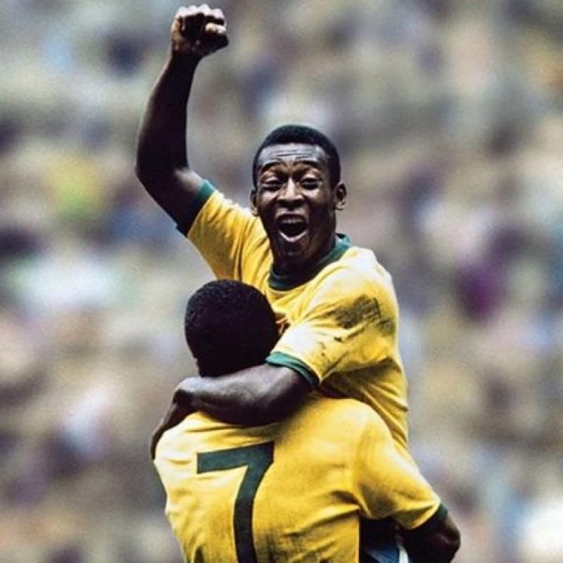 Pele Signed 1970 World Cup Winner Shirt