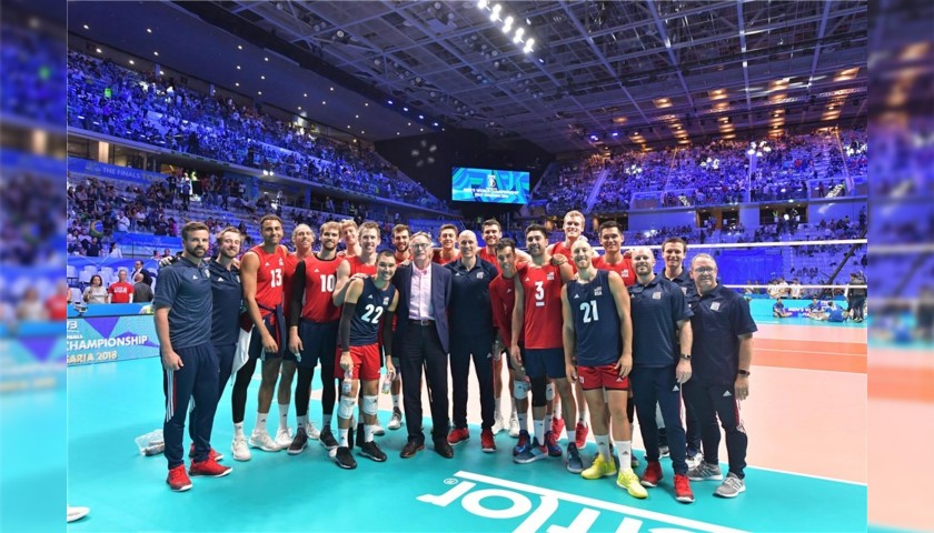 Official FIVB Volleyball Signed by the USA National Volleyball Team