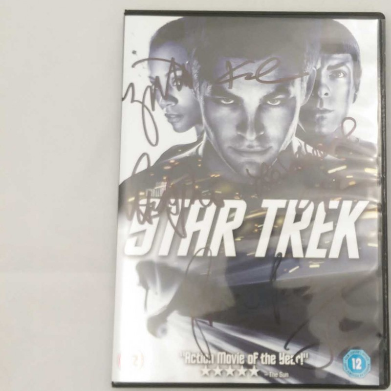 Signed Star Trek DVD Signed by Cast Including Simon Pegg, Zoe Saldana and Anton Yelchin
