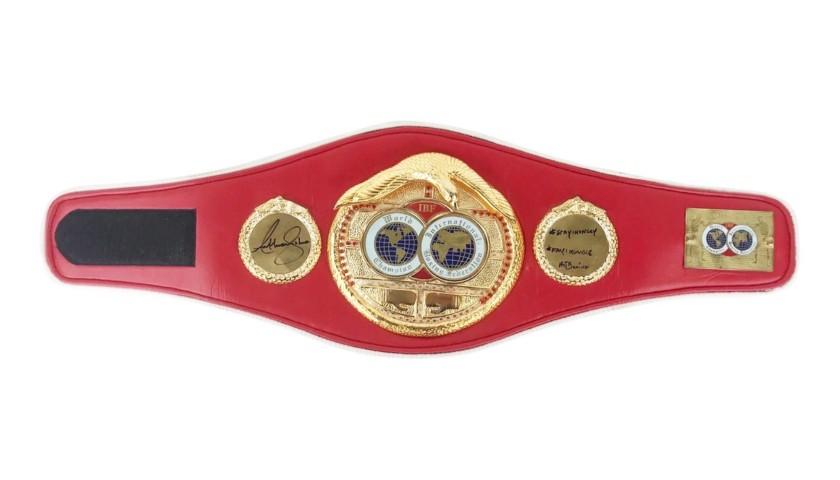 IBF Champion's Belt Signed by Anthony Joshua