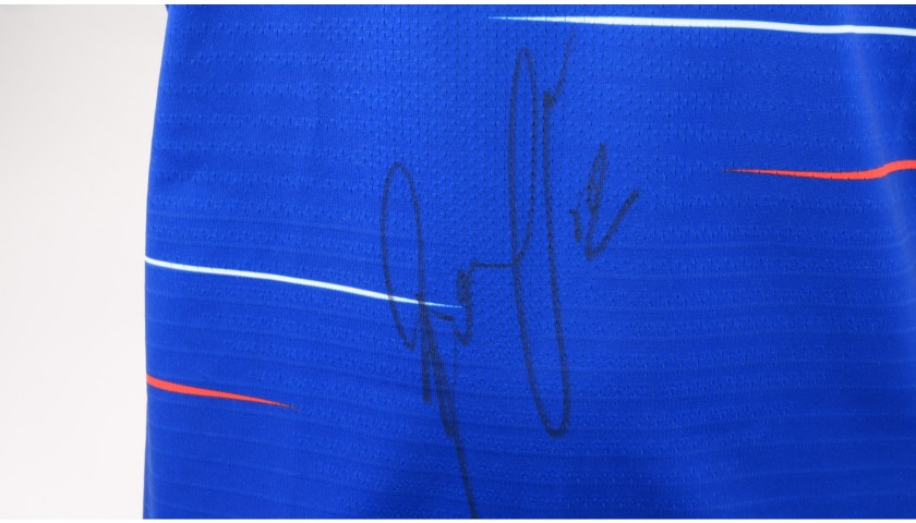Loftus-Cheek's Chelsea Match-issued and Signed Poppy Shirt