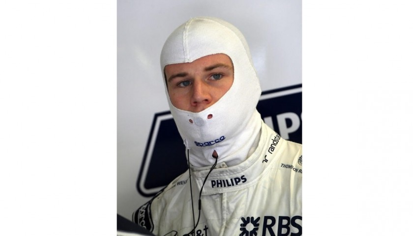 Balaclava Worn and Signed by Nico Hulkenberg, Williams F1 2010