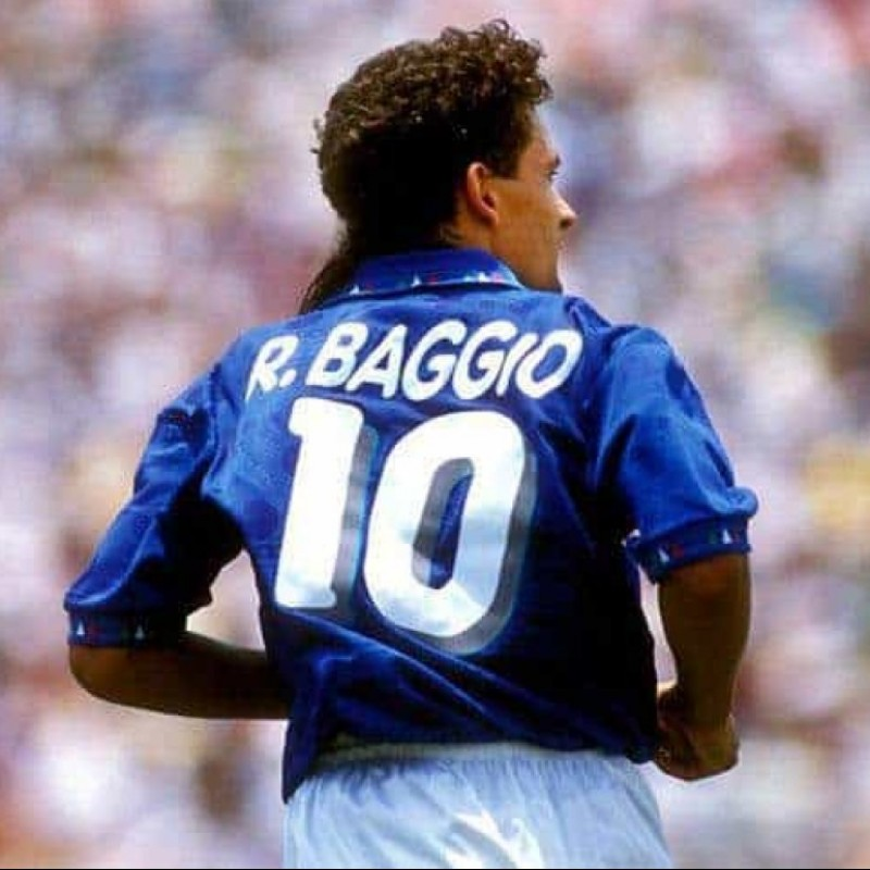 Baggio's Official Italy Signed Shirt, 1994