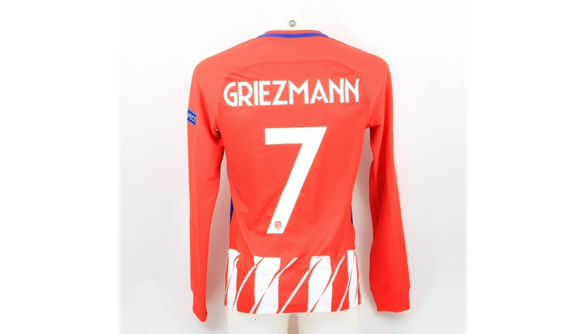 new product 4a5f5 e7617 Griezmann's Atletico Madrid Match-Issue EL 2018 Final Shirt - CharityStars