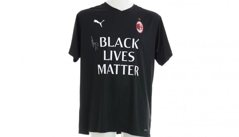 """""""Black Lives Matter"""" Training Shirt, Juventus-Milan - Signed by Begovic"""