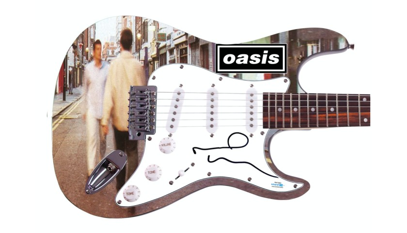 "Noel Gallagher ""Oasis"" Hand Signed Custom Graphics Guitar"