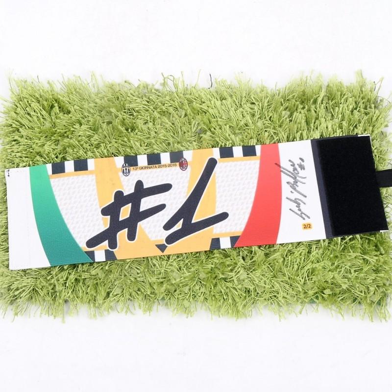 Buffon's Match-Issued Captain Armband, Signed Juventus-Milan 2015/16