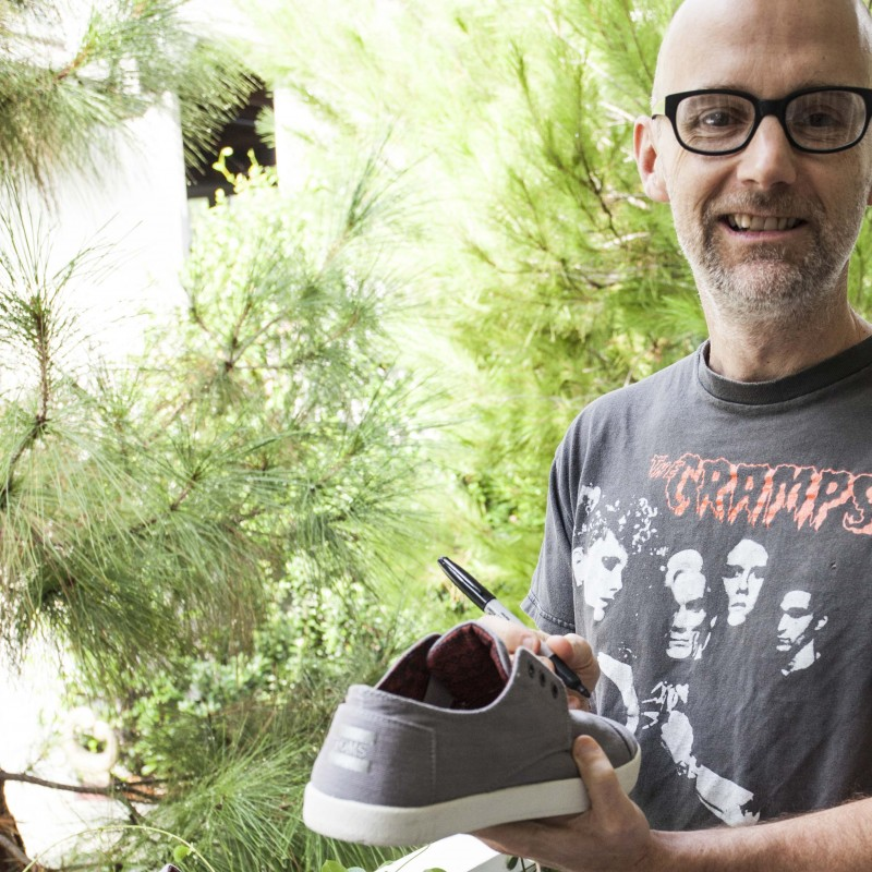 Moby's Autographed Tom's Trainers from his Personal Collection